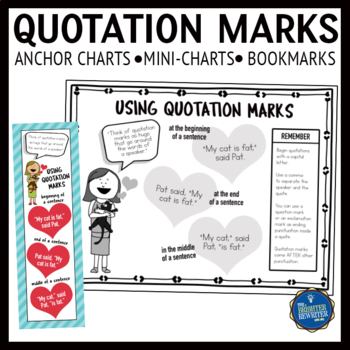Quotation Marks Anchor Charts