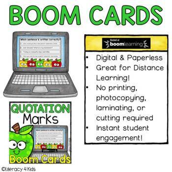 Quotation Marks Boom Cards (24 digital task cards)