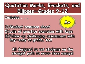 Quotation Marks, Brackets, and Ellipses—Grades 9-12