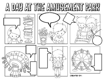 Quotation Marks Comic Strips Activity