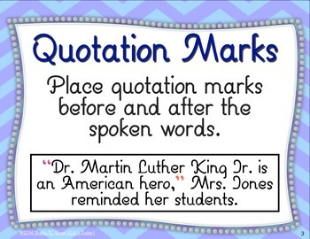 Quotation Marks & Commas in Dialogue Task Cards