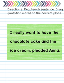 Quotation Marks- Digital Practice for Google Drive