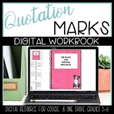 Using Quotation Marks with Cartoons {Google Classroom & One Drive}