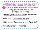 Quotation Marks ELA Anchor Poster