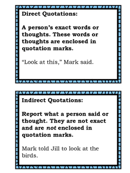 Quotation Marks: Easter Themed Task Cards