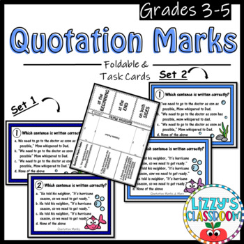 Quotation Marks *Foldable & Task Cards*