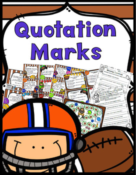 Quotation Marks Games, Worksheets, Student Handouts