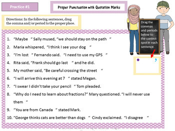 Quotation Marks: Google Drive Interactive