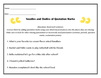 Quotation Marks Interactive Practice