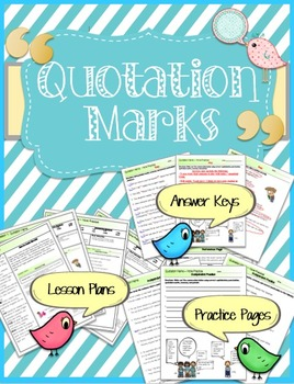 Quotation Marks Lessons