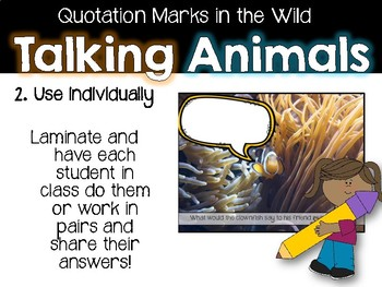 Quotation Marks Pack 2- Talking Animals Practice