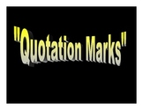 Quotation Marks Power Point