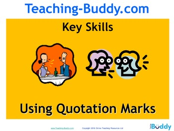 Quotation Marks (PowerPoint and worksheets)
