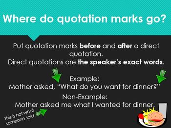 Quotation Marks Powerpoint Presentation