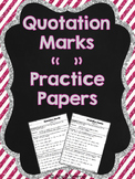Quotation Marks Practice Papers {FREEBIE}