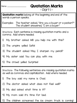 quotation marks in research papers