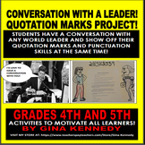 Quotation Marks, Punctuation Enrichment Writing Project!