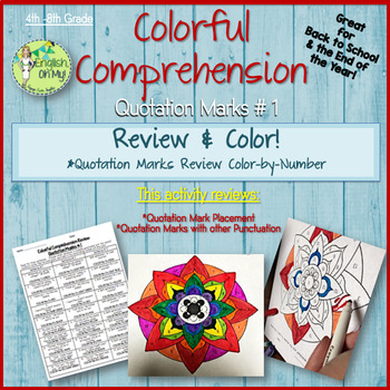 Quotation Marks Review-Colorful Comprehension, Color by Number