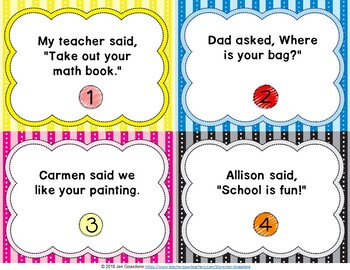 Quotation Marks Grammar SCOOT or Task Cards