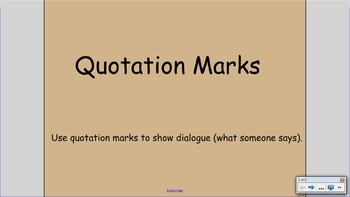 Quotation Marks SMART Notebook