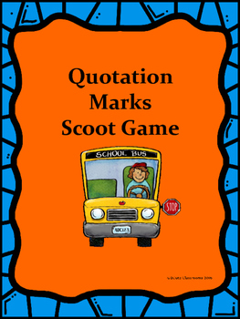 Quotation Marks Scoot Game