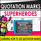 Quotation Marks Superheroes