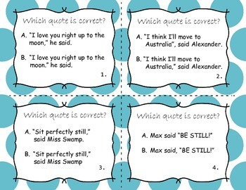 Quotation Marks (Task Cards)