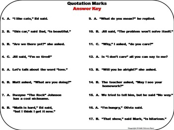 Quotation Marks Task Cards 2nd 3rd 4th Grade
