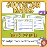 Quotation Marks Task Cards: 32 Multiple Choice Cards for G
