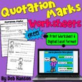 Punctuating Dialogue Worksheet   PDF and Digital  