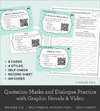 Quotation Marks and Dialogue Practice with Graphic Novels and Video