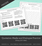 Quotation Marks and Dialogue Practice with QR Codes