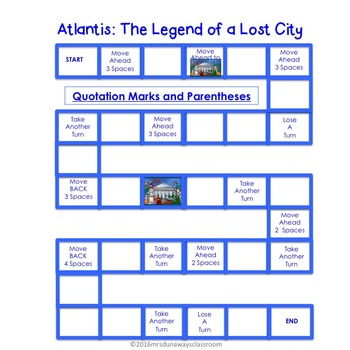 Quotation Marks and Parentheses:  Atlantis: The Lost City