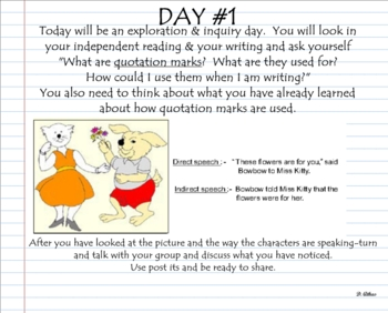 Quotation Marks: direct & indirect speech using Notebook 10