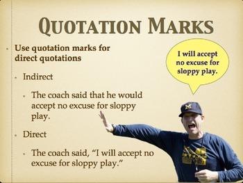 Quotation Marks grammar lesson