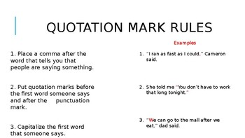 Quotation Marks with Punctuation