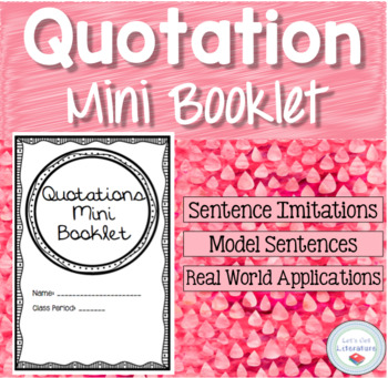 Quotation Mark Mini Book