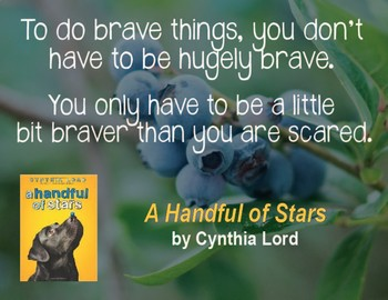 Quotation Poster With Editable Readalike Bookmark: A Handful of Stars (Lord)