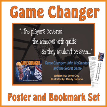 Quotation Poster With Editable Readalike Bookmark: Game Changer (Coy)