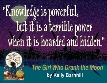 Quotation Poster With Editable Readalike Bookmark: The Girl Who Drank the Moon