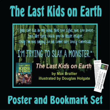 Quotation Poster With Editable Readalike Bookmark: The Last Kids on Earth