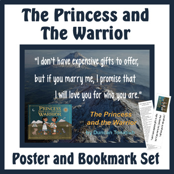 Quotation Poster With Editable Readalike Bookmark: The Princess and the Warrior