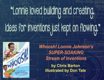 Quotation Poster With Editable Readalike Bookmark: Whoosh! (Barton)