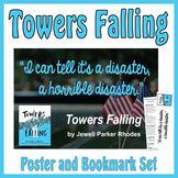 Quotation Poster with Editable Readalike Bookmark: Towers Falling (Rhodes)
