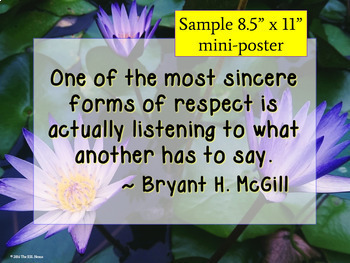 Quotation Posters about Respect & Kindness: Writing and Discussion Prompts
