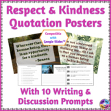Quotation Posters about Respect & Kindness: Writing and Di