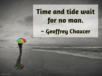 Quotation Posters about Time
