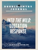"""Quotation Response for """"Into the Wild"""" Film (2007): Double-Entry Journal"""