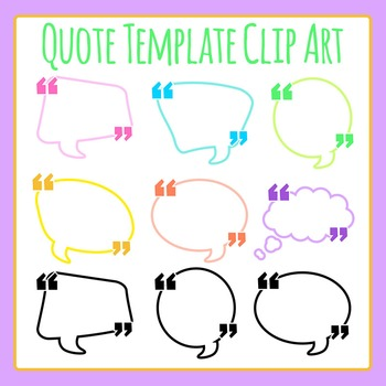 Quotation Templates or Quote Templates Clip Art for Commercial Use