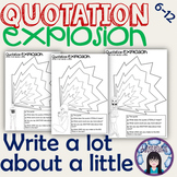 Quotation annotation exercise and worksheets